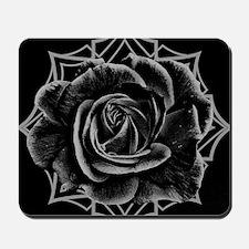 Black Rose On Gothic Mousepad