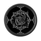 Gothic black rose Giant Clocks