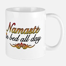 Namaste In Bed All Day Mug