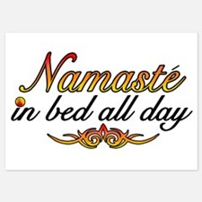 Namaste In Bed All Day Invitations