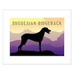 Ridgeback Dog Mountains Small Poster