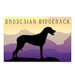 Ridgeback Dog Mountains Postcards (Package of 8)