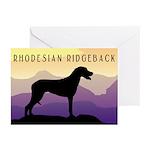 Ridgeback Dog Mountains Greeting Cards (Pk of 20)