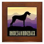 Ridgeback Dog Mountains Framed Tile