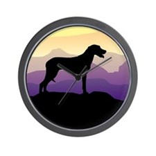 Ridgeback Dog Mountains Wall Clock