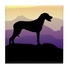 Ridgeback Dog Mountains Tile Coaster