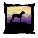 Ridgeback Dog Mountains Throw Pillow