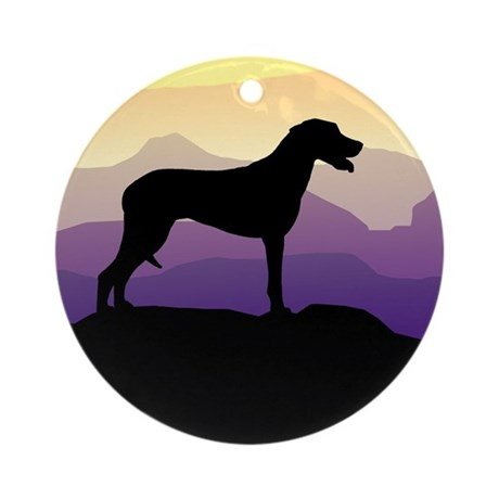 Ridgeback Dog Mountains Ornament (Round)