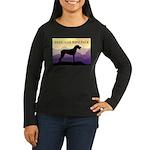 Ridgeback Dog Mountains Women's Long Sleeve Dark T