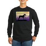 Ridgeback Dog Mountains Long Sleeve Dark T-Shirt