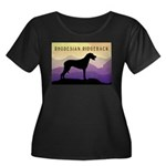 Ridgeback Dog Mountains Women's Plus Size Scoop Ne