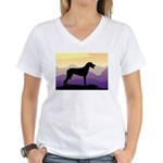 Ridgeback Dog Mountains Women's V-Neck T-Shirt