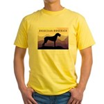 Ridgeback Dog Mountains Yellow T-Shirt