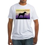 Ridgeback Dog Mountains Fitted T-Shirt