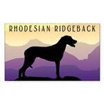 Ridgeback Dog Mountains Rectangle Sticker