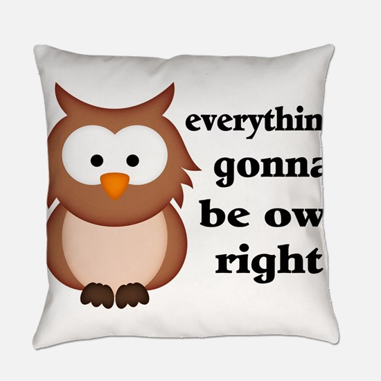 Funny Owl Everyday Pillow