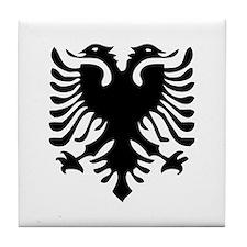 Albanian Eagle Tile Coaster