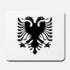 Albanian Eagle White Mousepad