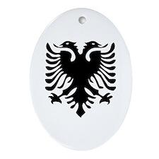 Albanian Eagle Oval Ornament