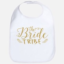 The Bride tribe Gold Glitter Modern Text Desig Bib