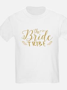The Bride tribe Gold Glitter Modern Text D T-Shirt