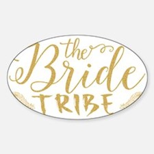 The Bride tribe Gold Glitter Modern Text D Decal