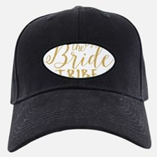 The Bride tribe Gold Glitter Modern Text Baseball Hat