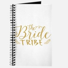 The Bride tribe Gold Glitter Modern Text D Journal