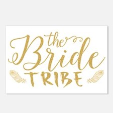 The Bride tribe Gold Glit Postcards (Package of 8)