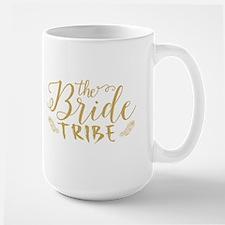 The Bride tribe Gold Glitter Modern Text Desi Mugs
