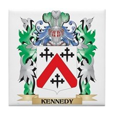 Kennedy- Coat of Arms - Family Crest Tile Coaster