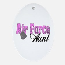 Air Force Aunt Oval Ornament