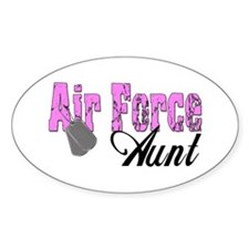 Air Force Aunt Oval Decal