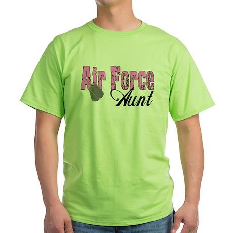 Air Force Aunt Green T-Shirt