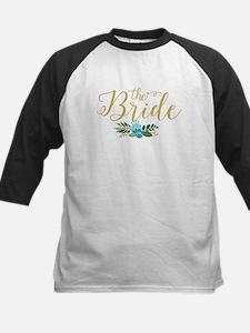 The Bride-Modern Text Design Gold Baseball Jersey