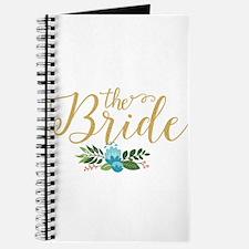 The Bride-Modern Text Design Gold Glitter Journal