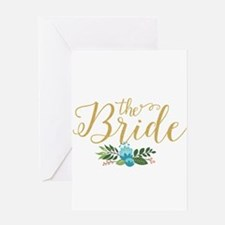 The Bride-Modern Text Design Gold G Greeting Cards