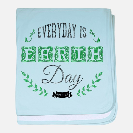 EveryDay Is Earth Day illustration in baby blanket