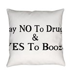 Yes To Booze Everyday Pillow