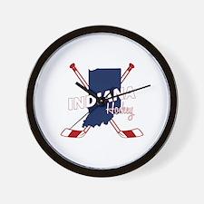 Indiana Hockey Wall Clock