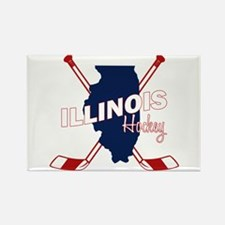 Illinois Hockey Rectangle Magnet
