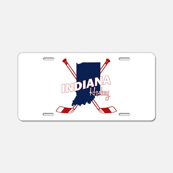 Indiana Hockey Aluminum License Plate