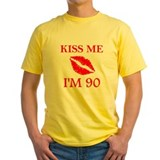 90th birthday Mens Yellow T-shirts