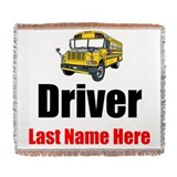 Bus driver Woven Blankets