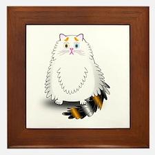 Schatzi - the worried kitten Framed Tile