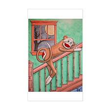 Bubba the Sock Monkey Rectangle Decal