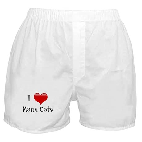 I Love Manx Cats Boxer Shorts