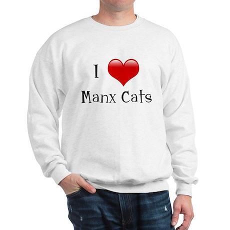 I Love Manx Cats Sweatshirt