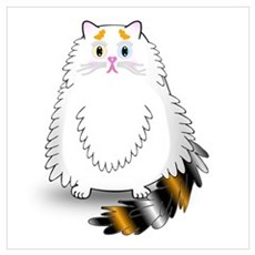 Schatzi - the worried kitten Wall Art Poster