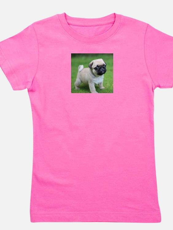 Pug Puppy Girl's Tee